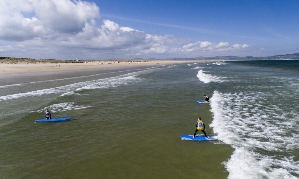 Aerial Vision NI - Surfing Benone Beach