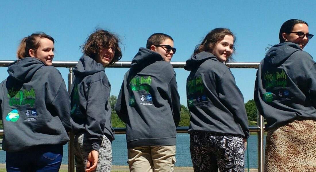Grassroots Challenge Youth Forum members in their new hoodies!